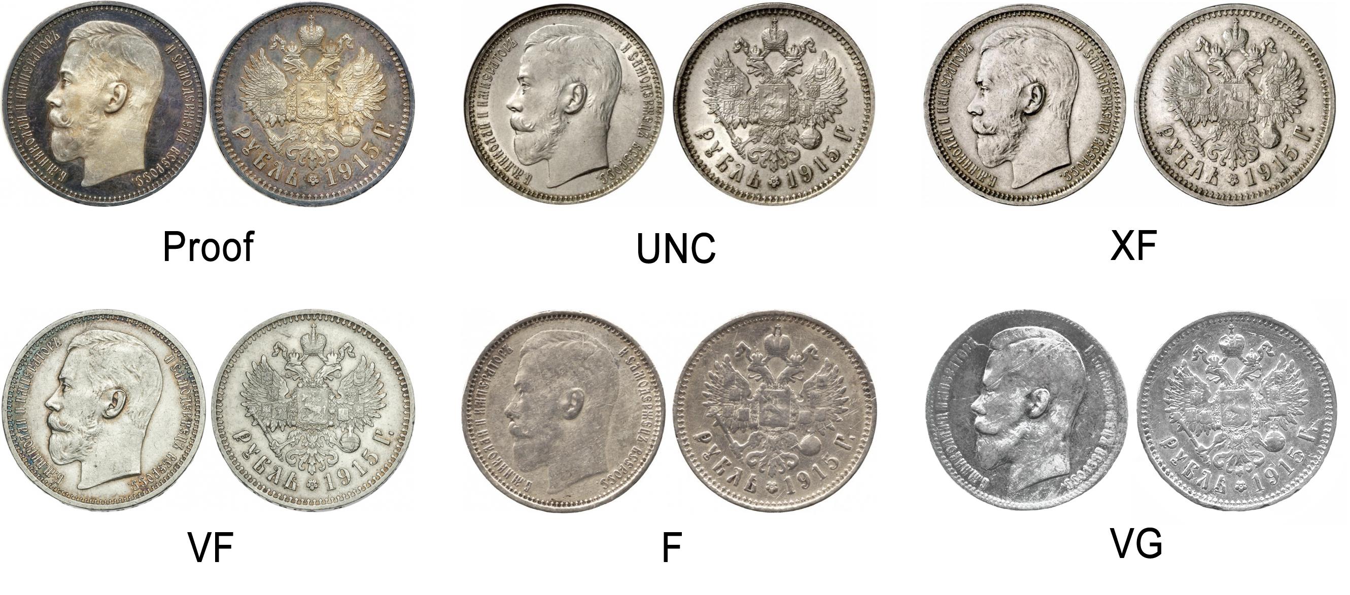 Как определить состояние старинной монеты